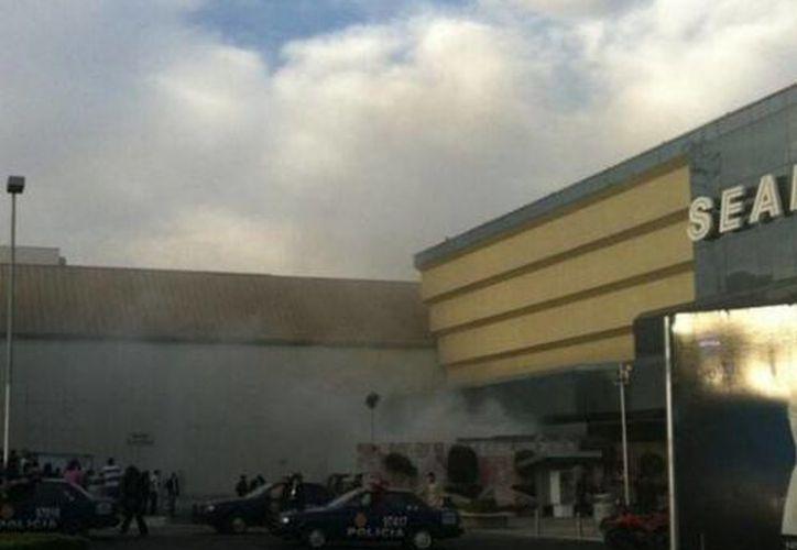 Los usuarios de Twitter difundieron imágenes del incidente. (@Milenio)