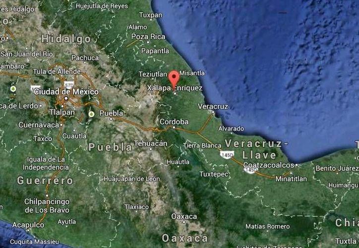 El choque armado se registró en el municipio de Banderilla,  a unos 290 kilómetros de Xalapa. (Google Maps)