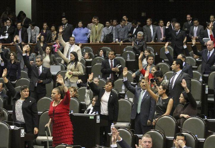 Aspecto de la la Sesión en el Palacio Legislativo de San Lázaro. (Archivo/Notimex)