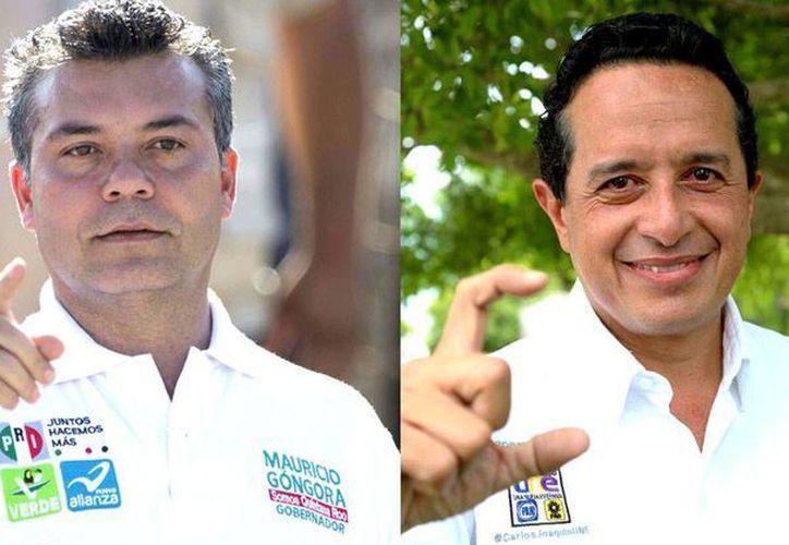Mauricio Góngora y Carlos Joaquín. (Redacción/SIPSE)