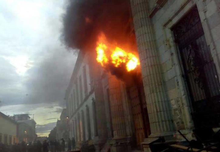Las autoridades recomiendan evitar el centro histórico de Oaxaca, donde se ubica la Facultad de Derecho. (Excélsior)