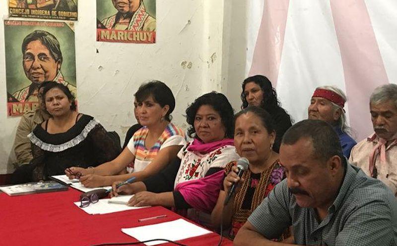 Marichuy dijo que seguirán recorriendo los pueblos originarios para conocer sus necesidades (Foto: Excélsior)
