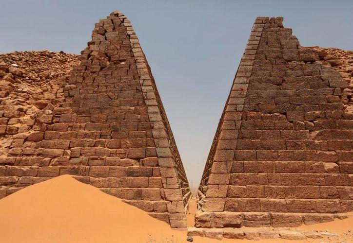 Las pirámides de Meroe guardan similitud con las de Egipto. (AP)