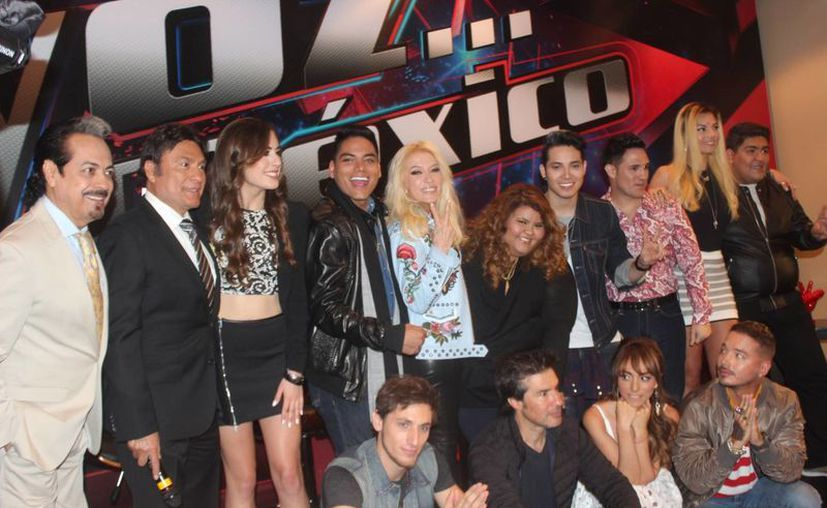 Los 'coaches' y los finalistas del reality show 'La Voz México', cuya final en vivo se trasmitirá este domingo 31 de julio de 2016. (Foto Notimex)