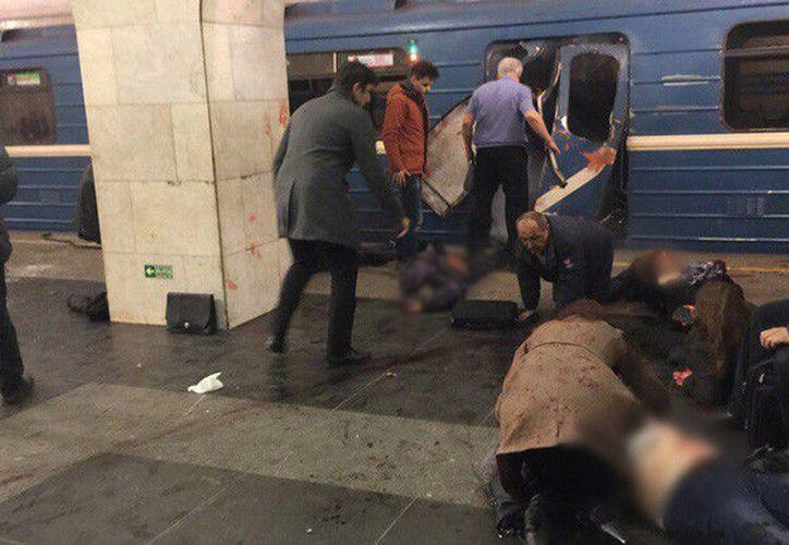 Según policía, la deflagración fue causada por artefactos explosivos rellenos con metralla. (RT)