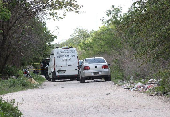 El cuerpo del hombre fue hallado en un camino de terracería en la Región 203. (Redacción)