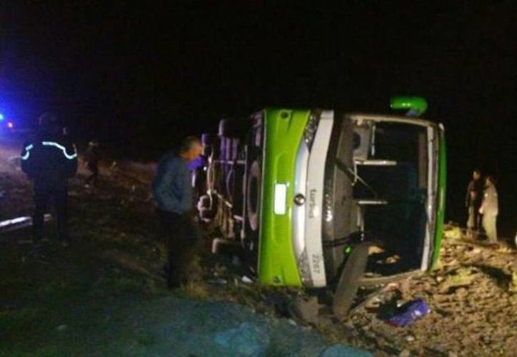 El accidente se produjo en la ruta 7 a la altura del Parque Provincial Aconcagua que encierra la montaña más alta de América. (Agencia Mendoza)