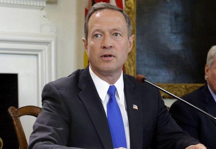 Esta foto del 2 de mayo del 2013 muestra al gobernador republicano de Maryland, Martin O'Malley, hablar antes de firmar una ley para abolir la pena de muerte en el estado. (Agencias)
