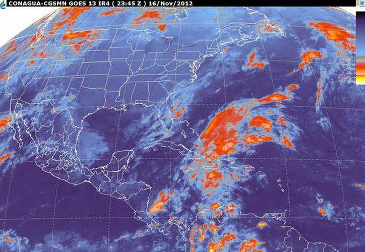 El Centro Hidrometeorológico Regional Península de Yucatan monitorea las masas de aire frío para avisar con oportunidad el arribo de alguna onda gélida. (smn.cna.gob.mx)