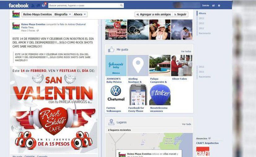"""El Facebook es uno de los portales electrónicos que las discotecas aprovechan para anunciar """"promociones y descuentos especiales"""". (Redacción/SIPSE)"""