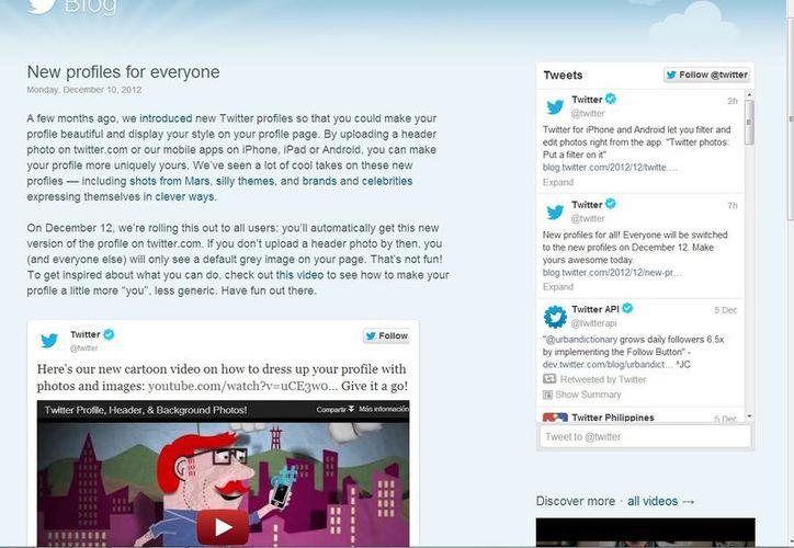 Twitter anunció los cambios en su blog oficial. (blog.twitter.com)