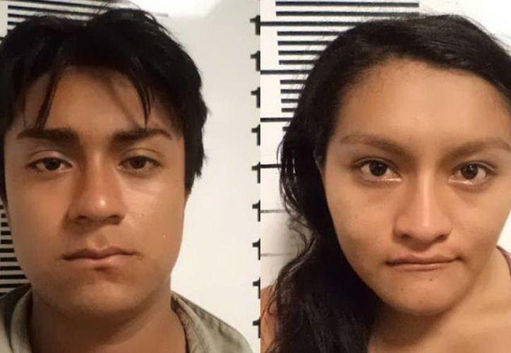 Gustavo Hernán López Sandoval de 19 años y Mariely Karina López Canché de 18 años. (Milenio Novedades)