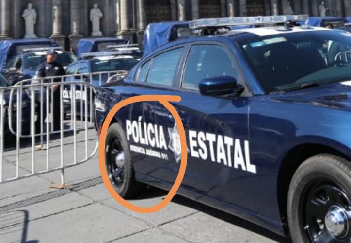 La Secretaría de Seguridad del Estado de México indicó que en 3 de las 439 patrullas se encontró el error ortográfico.  (Foto: Twitter)