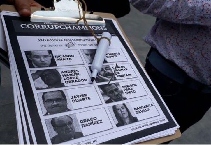 """El objetivo es elegir a los políticos más corruptos del país y """"empezar el combate"""" contra la corrupción. (SDP Noticias)"""