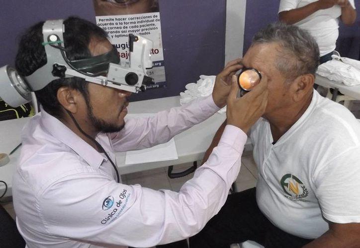 Esta jornada de salud visual será por dos días, de nueve de la mañana a tres de la tarde. (Facebook)