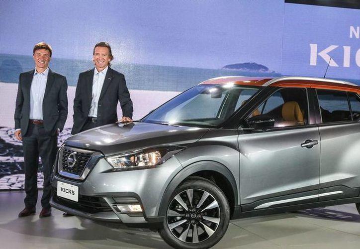 Imagen de contexto de un modelo kicks de Nissan. La Automotriz anunció la producción de este modelo en su planta de Aguascalientes, con el 90 % de autopartes mexicanas. (www.motorpasion.com)