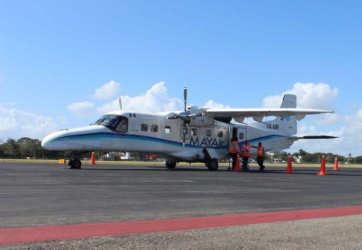 En las última fechas solamente se registró tres pasajeros que abordaron el vuelo. (Foto: Joel Zamora)