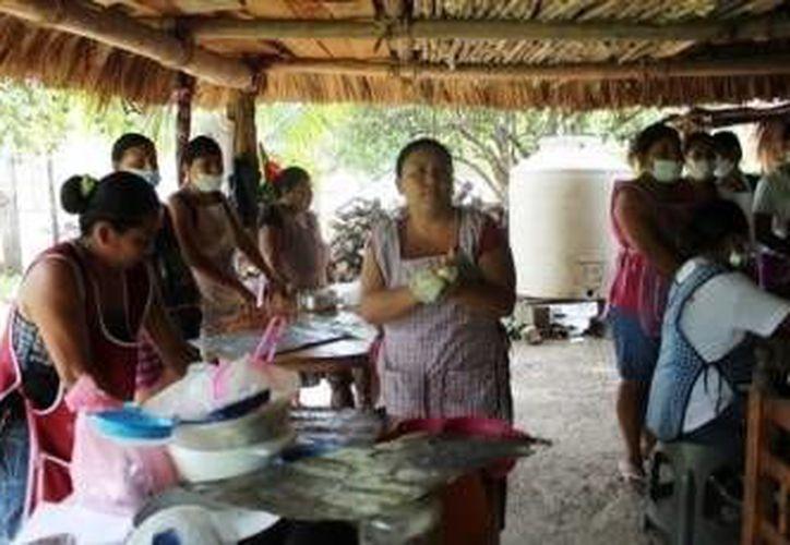Fueron entregadas 14 máquinas de alta costura a la comunidad de Álvaro Obregón. (Redacción/SIPSE)