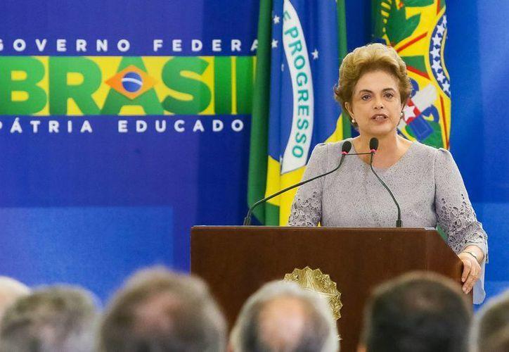 Dilma Rousseff hizo los señalamientos a su vicepresidente en el Palacio del Planalto, sede de la Presidencia de Brasil. (Archivo/Notimex)