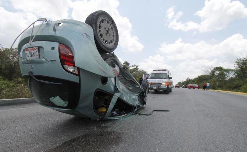 """El 25% de los automóviles asegurados, responde a una cantidad """"muy baja"""" para la cantidad de accidentes que se dan en las carreteras federales. (Israel Leal/SIPSE)"""