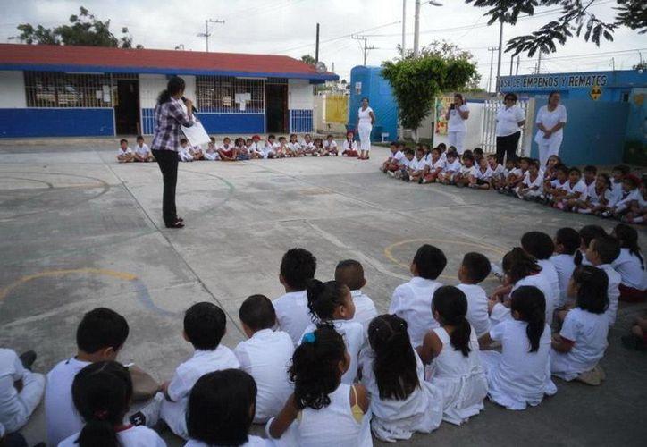 """El programa dio inicio ayer en el jardín de niños """"Arcoíris"""". (Cortesía/SIPSE)"""