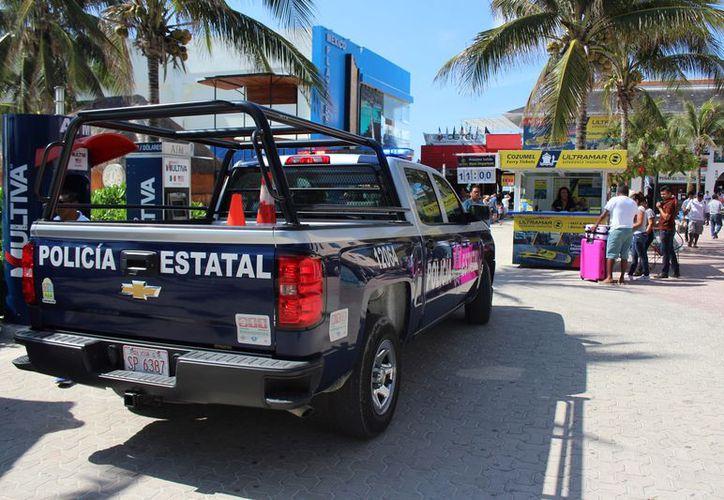 La Policía Federal, Estatal y Municipal han implementado una coordinación de vigilancia. (Adrián Barreto/SIPSE)