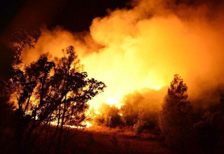 La sequía que afecta al estado de California ha propiciado que el fuego se extinga con mayor rapidez. (EFE)