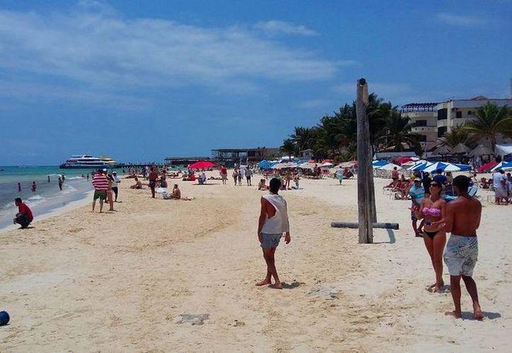 La Capitanía de Puerto de Playa del Carmen descarta que el fenómeno mar de fondo afecte la costa de la Riviera Maya. (Daniel Pacheco/SIPSE)