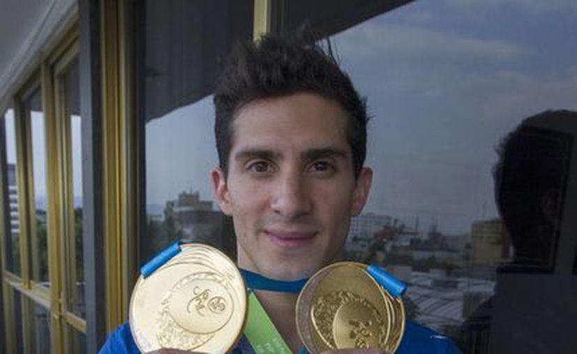 El medallista panamericano se encuentra preparando para el mundial de clavados que se llevará a cabo del 19 al 24 de febrero en Río de Janeiro, Brasil. (Notimex)