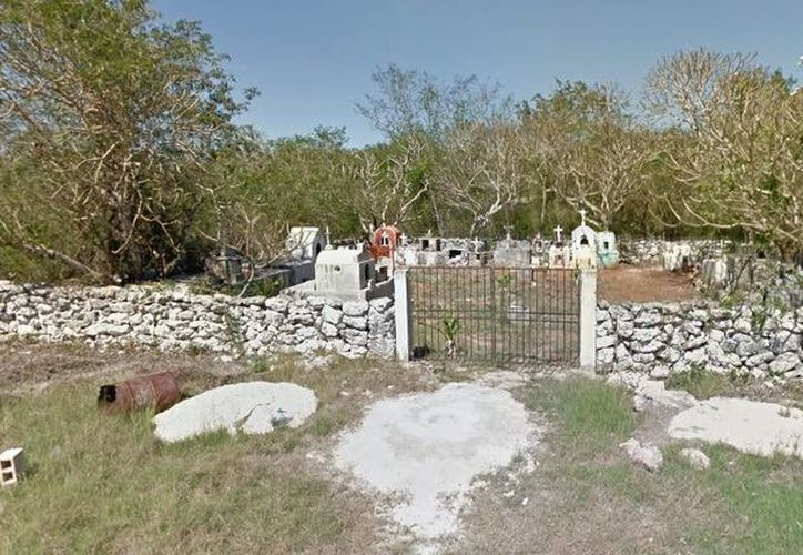 Imagen del cementerio de Tixpéhual, lugar donde se aperece el fantasma de 'Juanito'. (Google Maps)