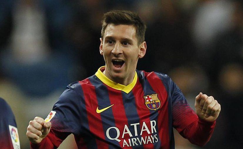 El triplete de Messi no sólo dio importantes puntos al Barça, lo convirtió en el segundo máximo goleador de la Liga de España con 236 goles, y en el máximo anotador del clásico español con 21 dianas. (Agencias)