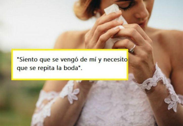 En Reddit, una mujer contó cómo en su boda, fue opacada por su dama de honor. (Excélsior)