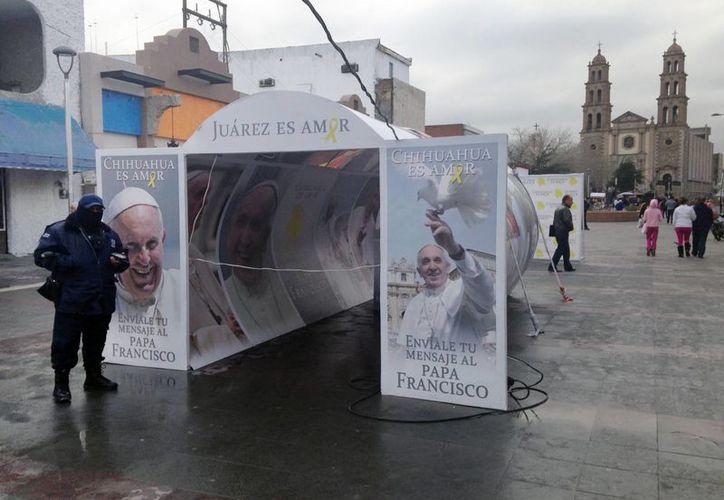 Ciudad Juárez, Chihuahua, ya se reporta lista para la visita del Papa Francisco. (AP/Archivo)