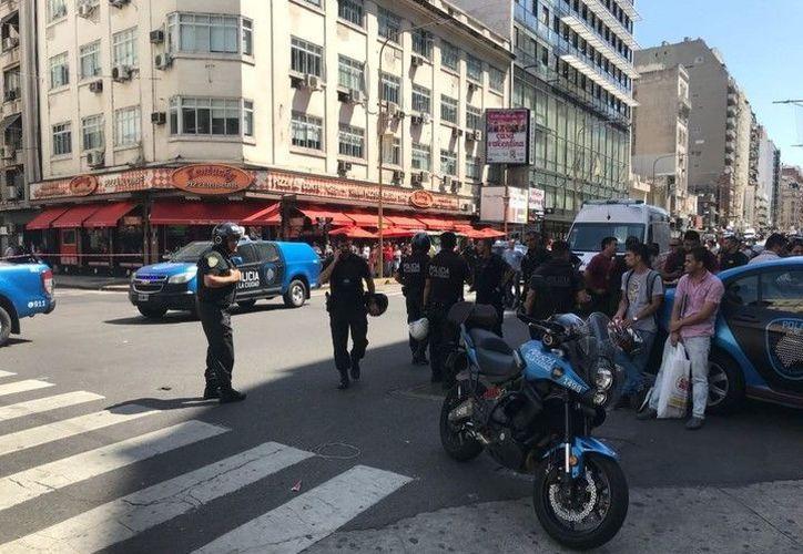 Un tiroteo sorprendió a la zona de Tribunales de Buenos Aires, Argentina. (El Clarín)