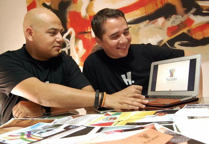 Einar Reyes Valdez y Juan Carlos Hernández Cámara, directivos de H. Creativos. (Milenio)