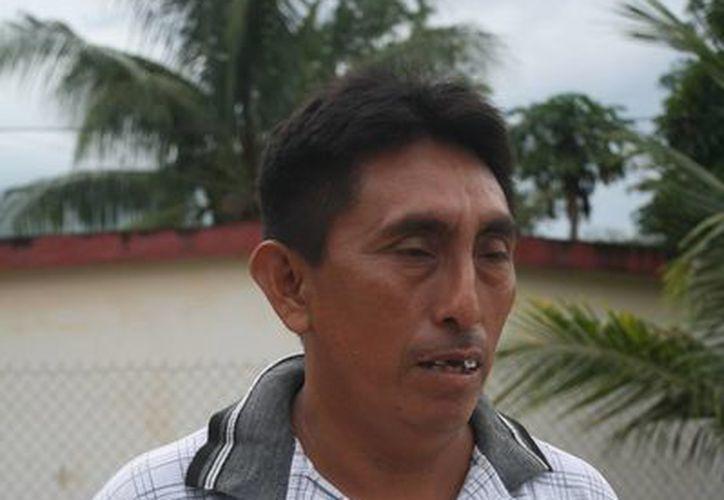 Pedro May May, lamentó la falta de compromiso del edil. (Carlos Yabur/SIPSE)