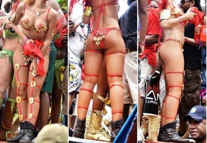 Imágenes de Rihanna en el carnaval de Barbados. (rockefellernews.com)