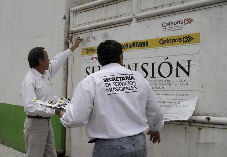 De 2011 a la fecha han suspendido por lo menos 55 establecimientos de 181 verificados. (rotativo.com.mx)