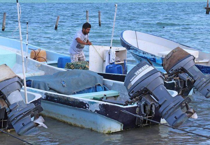 Pescadores de Puerto Juárez  se unen a la búsqueda. (Jesús Tijerina/SIPSE)