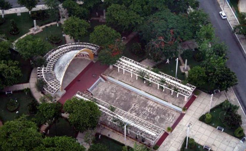 Concha Acústica del Parque de las Américas. (Archivo SIPSE)