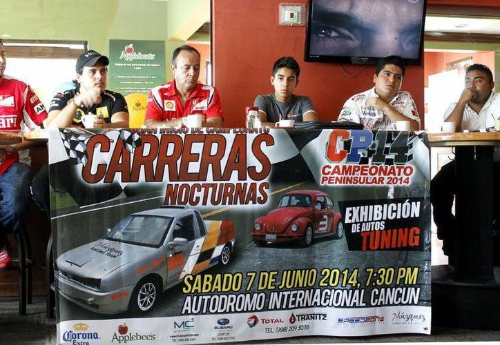 Los organizadores del Campeonato Peninsular de Automovilismo de Velocidad  2014, indicaron que está temporada serán de siete carreras. (Francisco Gálvez/SIPSE)