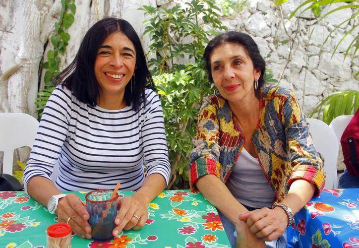 Ángeles Martínez y Mónica Neumaier compartirán sus experiencias en un taller organizado por los gestores culturales Cinema Pa'akat. (Milenio Novedades)