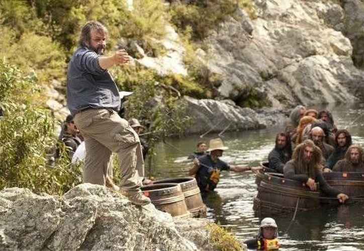 Peter Jackson presentó el tráiler de 'El Hobbit: La batalla de los cinco ejércitos' en la Comic-Con de San Diego. (AP)