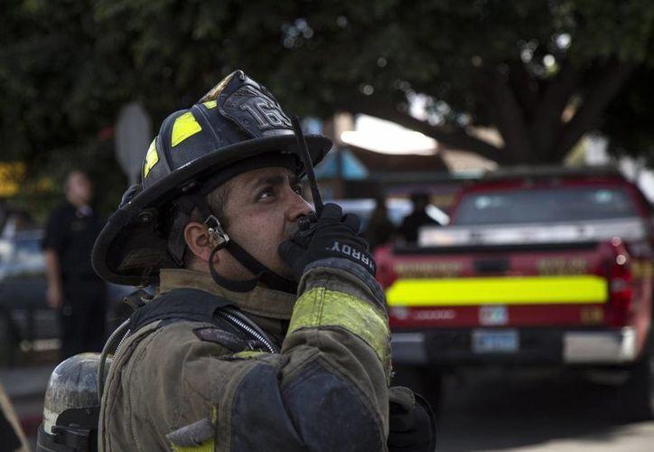 Los bomberos de la capital de la República reclaman el pago de alrededor de siete mil pesos, cada uno. (Archivo/Notimex)
