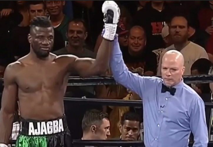 Efe Ajagba ganó la pelea contra Curtis Harper sin dar un solo golpe. (Foto: BBC)