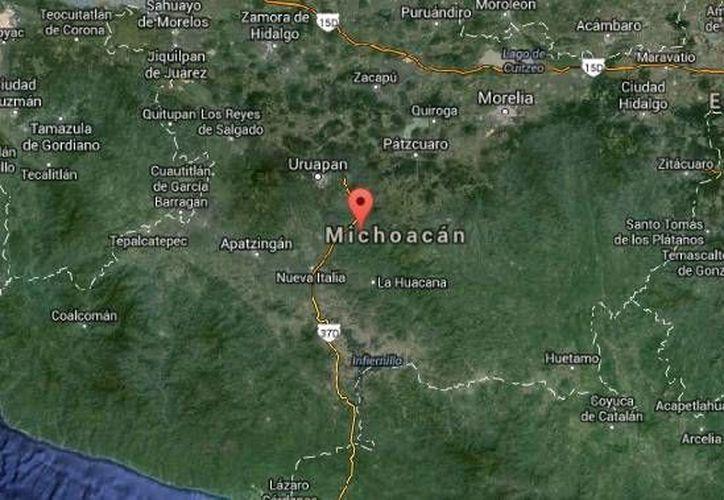 El crimen contra Arturo Alejandre Ramos en Nuevo Urtecho es uno más contra líderes del PRI en Michoacán. (Google Maps)