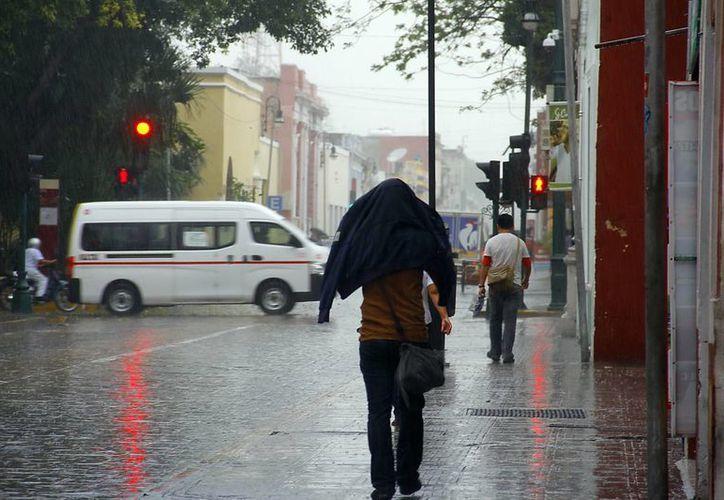El frente frío 40 propició algunas lluvias que tomaron desprevenidos a varios meridanos. (Luis Pérez/SIPSE)