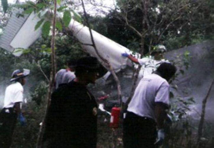 Primera imagen de las avionetas estrelladas en Santander, Colombia (Foto tomada del Twitter de @vanguardiacom)