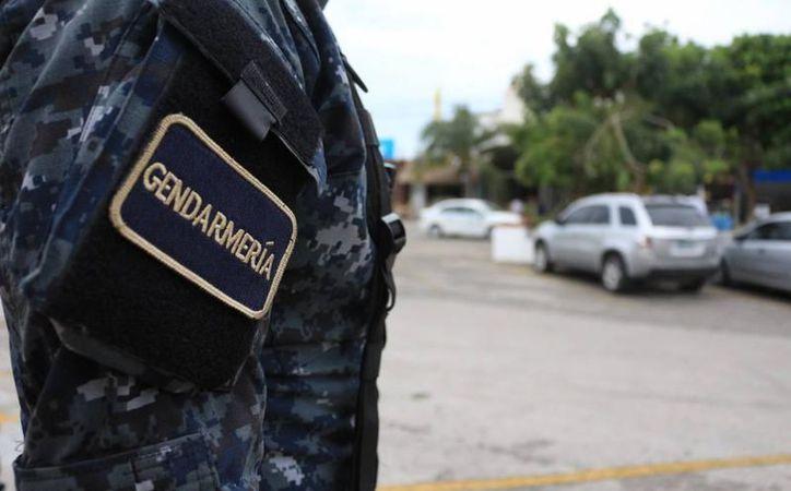 Más de 20 elementos de la división de la Gendarmería de la Policía Federal fueron despojados. (Redacción/SIPSE)