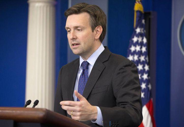 Josh Earnest, vocero de la Casa Blanca, reiteró que la misión de las tropas estadounidenses en Siria no será de combate. (AP)